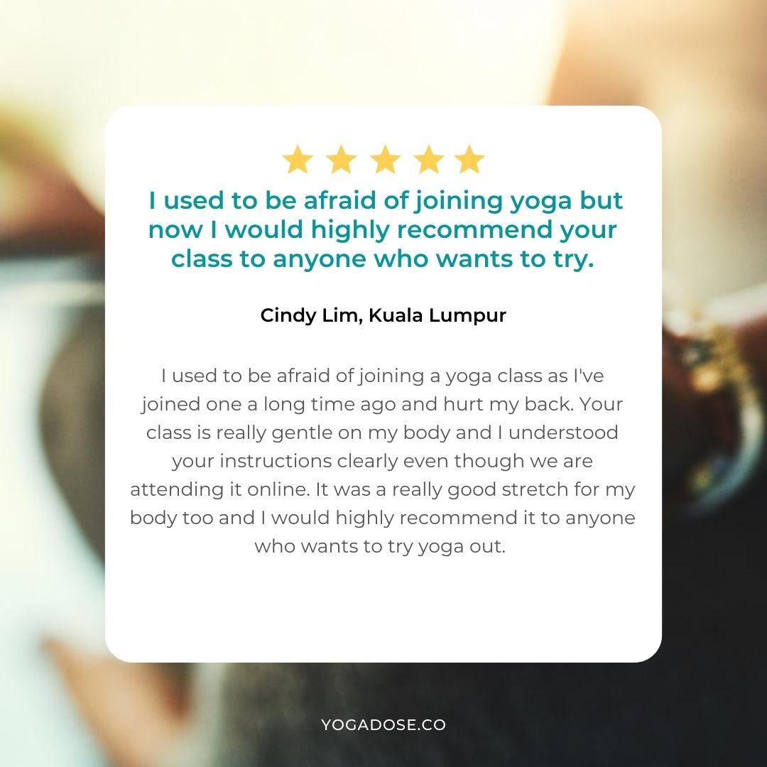 yoga dose testimonial 13