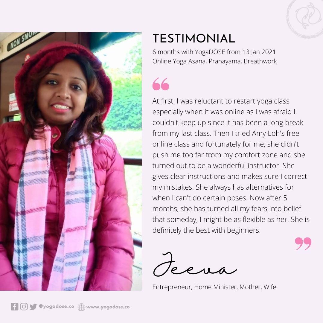 6 Month Testimonial - Jeeva