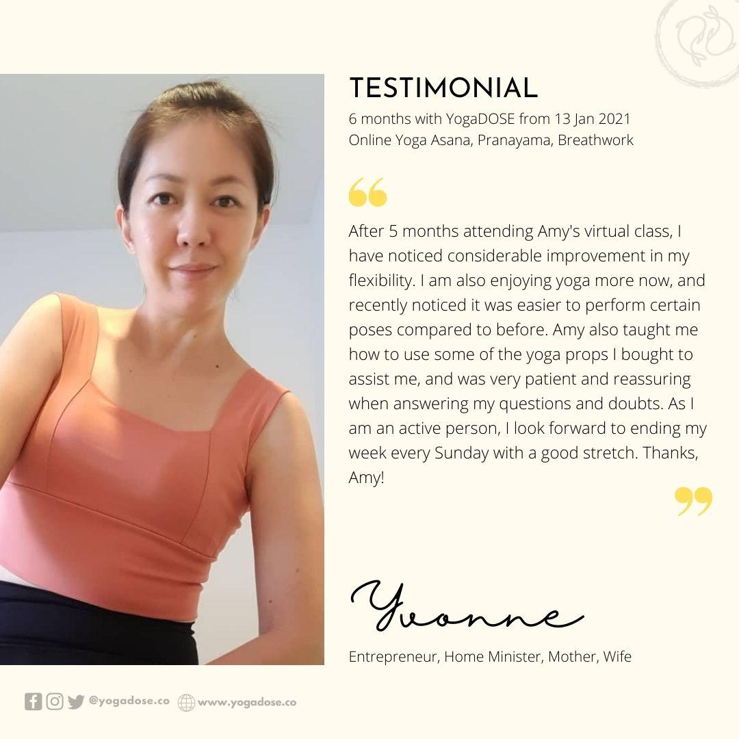 6 Month Testimonial - Yvonne
